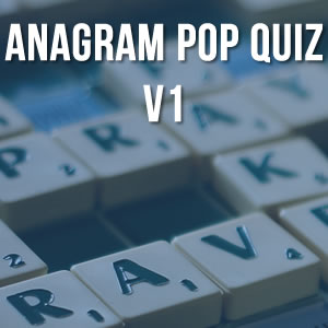 Anagram Music Quiz